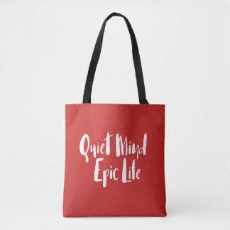 O bolsa épico da vida da mente quieta