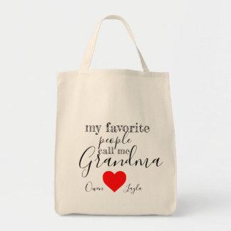 O bolsa favorito da avó (personalizado com nomes)