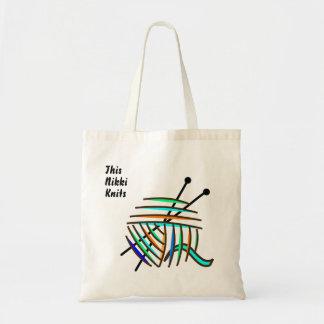 O bolsa feito sob encomenda dos knitters