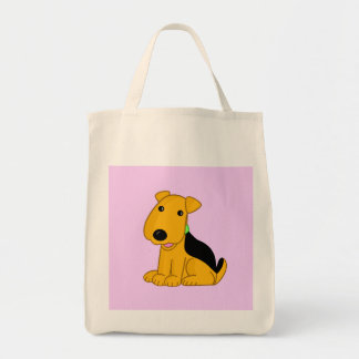 O bolsa feliz bonito do cão de filhote de cachorro
