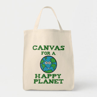 O bolsa feliz das canvas do planeta