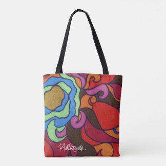 O bolsa floral abstrato brilhante