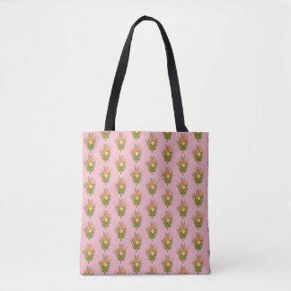 o bolsa floral amarelo e verde do rosa do elegante