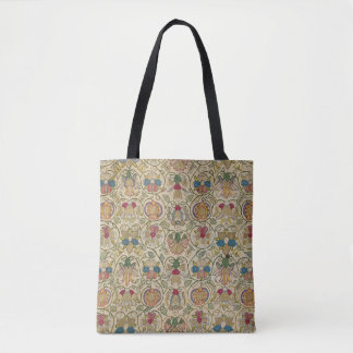 O bolsa floral britânico antigo do bordado