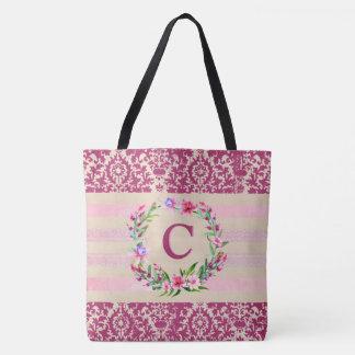 O bolsa floral corajosamente romântico do