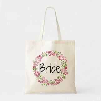 O bolsa floral da noiva bonita