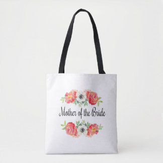 O bolsa floral da noiva da mãe da aguarela