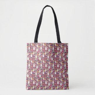 O bolsa floral do Corgi - roxo
