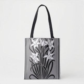 O bolsa floral do estêncil de Nouveau da arte