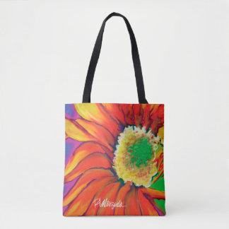 O bolsa floral do girassol brilhante