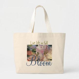 O bolsa floral do jumbo da arte da aguarela da