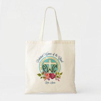 O bolsa floral do logotipo de PWOC