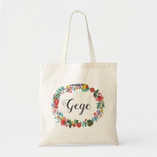 O bolsa floral do nome da grinalda - Juliette