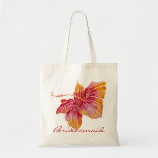 O bolsa floral do orçamento da dama de honra  