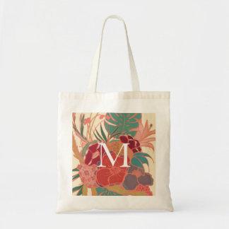 O bolsa floral do orçamento do vintage do