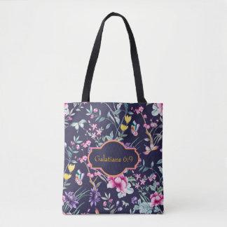 O bolsa floral do verso customizável da bíblia