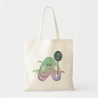 o bolsa/fralda da criança do polvo dos Lolli-pop Sacola Tote Budget