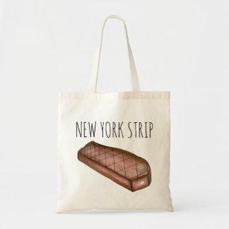 O bolsa grelhado NYC da carne do bife da tira da