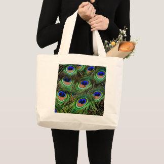 O bolsa impresso da pena do pavão