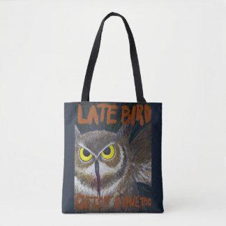 O bolsa inspirador da pintura da coruja atrasada