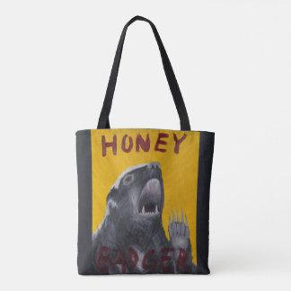 O bolsa inspirador da pintura do texugo de mel