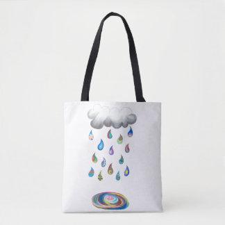 O bolsa irrisório da chuva