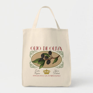 O bolsa italiano da arte da etiqueta das azeitonas