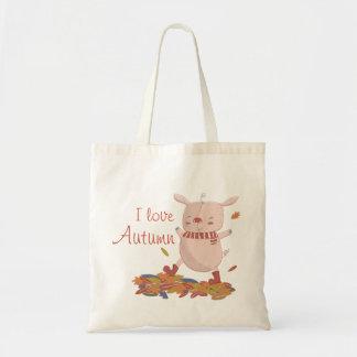O bolsa leitão do outono
