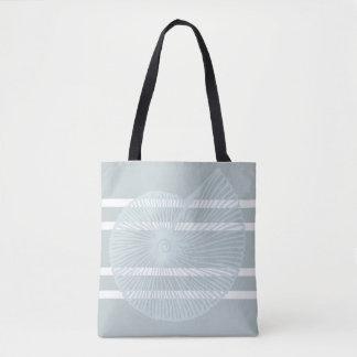 O bolsa listrado da praia de Shell da praia no