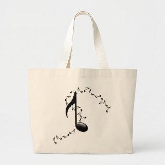 o bolsa lustroso da nota da música 3D