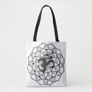 O bolsa mandal preto e branco