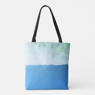 O bolsa minimalista do azul de dois tons