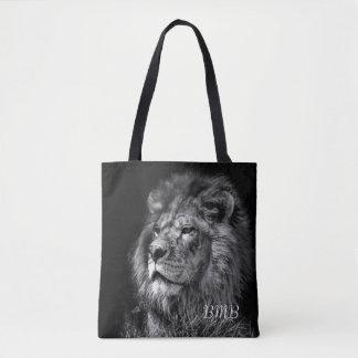 O bolsa novo orgulhoso do monograma do leão