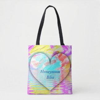 O bolsa nupcial do coração artístico da felicidade