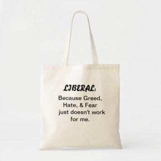 o bolsa Orçamento-fixado o preço com slogan libera