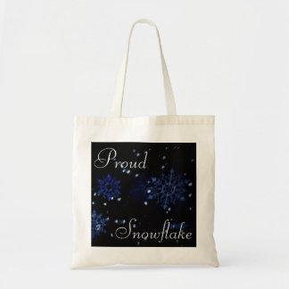 O bolsa orgulhoso do floco de neve