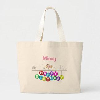 O bolsa personalizado do jumbo do aniversário de