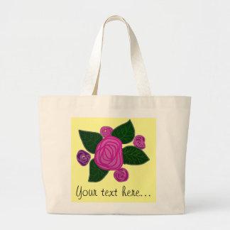 O bolsa personalizado do jumbo do design do rosa