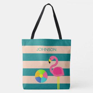 O bolsa personalizado flamingo da praia de Deco