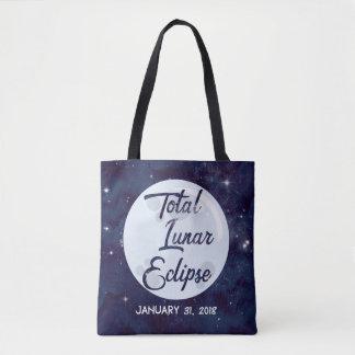 O bolsa personalizado total do eclipse lunar