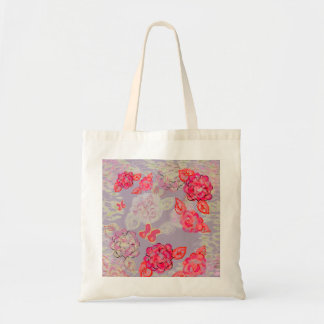 O bolsa pintado do gráfico dos rosas bolsa tote