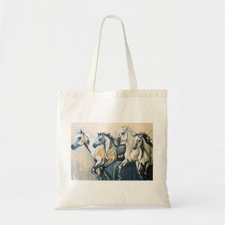 O bolsa pintado dos cavalos