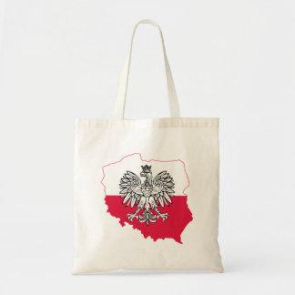 O bolsa polonês da bandeira do mapa