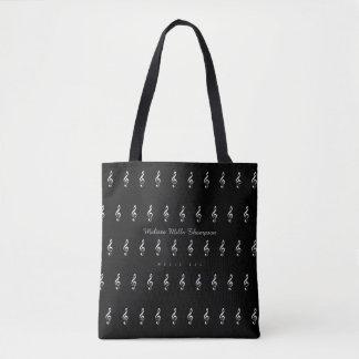 o bolsa preto da música com nome