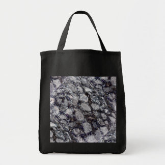 Cobblestone black canvas tote