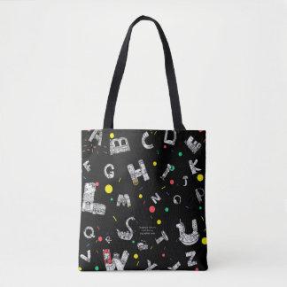O bolsa preto das letras fantásticas