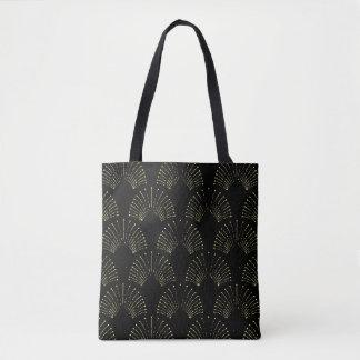 O bolsa preto do design do fã do art deco