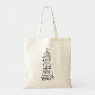O bolsa preto e branco de Bookstack