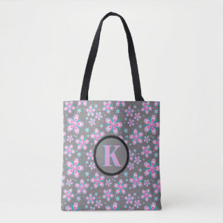 O bolsa preto floral azul cor-de-rosa cinzento do