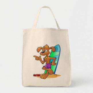 O bolsa reusável da bolsa de compra da prancha e